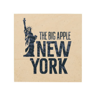 New York | The Big Apple Wood Print