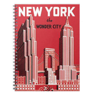 New York The to wonder City Note Book
