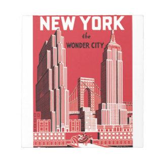 New York The to wonder City Notepad