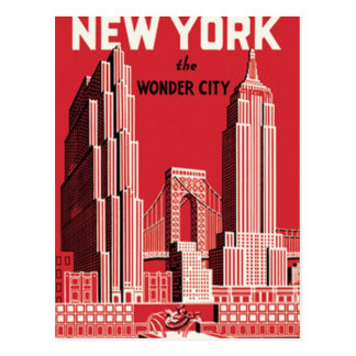 New York The to wonder City Postcard