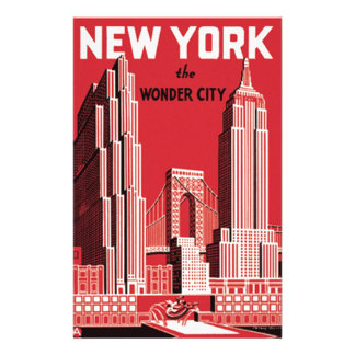 New York The to wonder City Stationery
