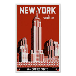 New York the Wonder City Poster