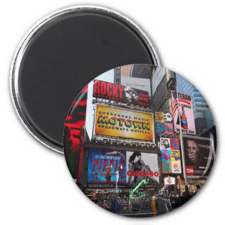 New York Times Square Billboards 6 Cm Round Magnet
