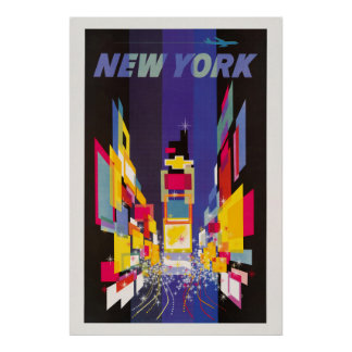 New York Times Square by night abstract Poster