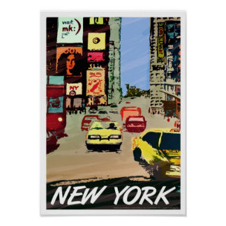 New York Times Square poster art print