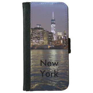 New York town center of skyline iPhone 6 Wallet Case