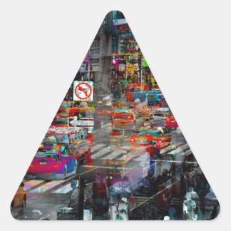 New York Triangle Sticker