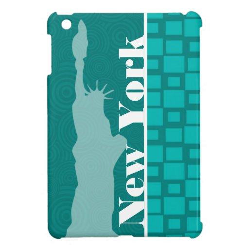 New York; Turquoise Squares; Retro iPad Mini Covers