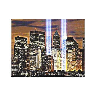 New York Twin Towers Light Beams Canvas Print