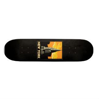 new york united states usa vintage retro travel skateboard deck