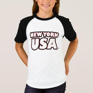 New York USA Gold-Words Kids T-Shirts