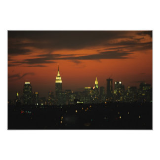New York, USA. Skyline of uptown Manhattan 2 Photo Print