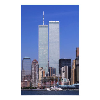 New York, USA. Twin towers of the famous World Photograph