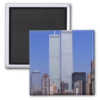 New York, USA. Twin towers of the famous World Square Magnet