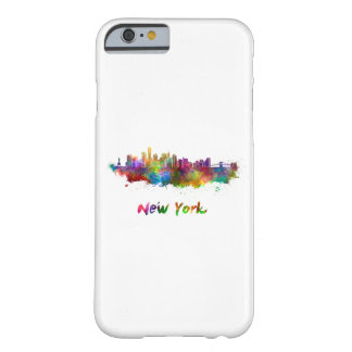 New York V2 skyline in watercolor Barely There iPhone 6 Case