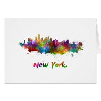 New York V2 skyline in watercolor Card