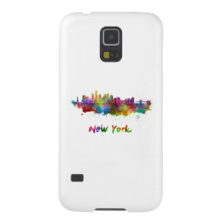 New York V2 skyline in watercolor Case For Galaxy S5