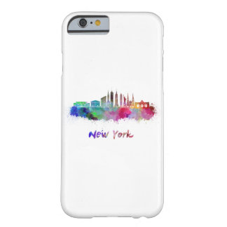 New York V3 skyline in watercolor Barely There iPhone 6 Case