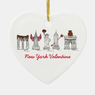 New York Valentine NYC Heart-Shaped Ornament
