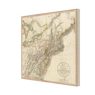 New York, Vermont, New Hampshire, etc Canvas Print