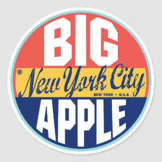 New York Vintage Label Round Sticker