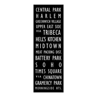 New York Vintage Transit Scroll Poster