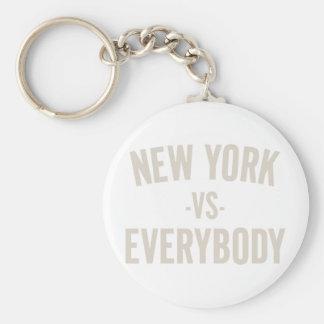 New York Vs Everybody Key Ring