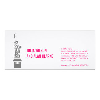 New York Wedding Invitation Hot Pink Names