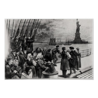 New York - Welcome to the land of freedom Print