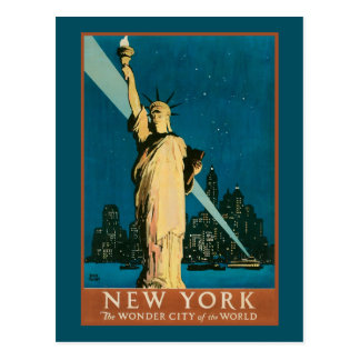 New York Wonder City of the World Postcard