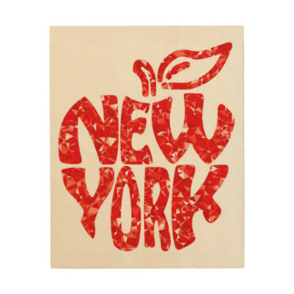 NEW YORK WOOD WALL ART