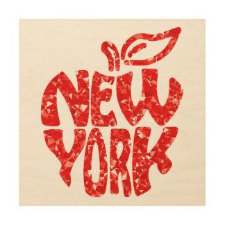 NEW YORK WOOD WALL DECOR