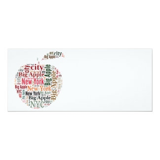 New York words cloud 10 Cm X 24 Cm Invitation Card