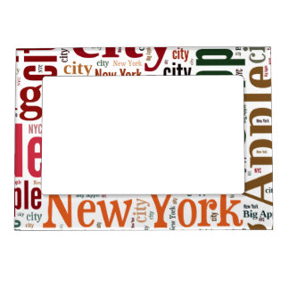 New York words cloud Magnetic Picture Frame