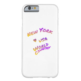 New York world city, colorful text art Barely There iPhone 6 Case
