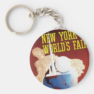 New York World's Fair (Globe) Basic Round Button Key Ring