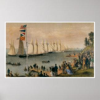 New York Yacht Club Regatta, 1869 Poster
