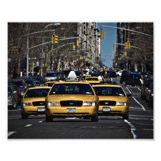 New York Yellow Cabs Photo Print