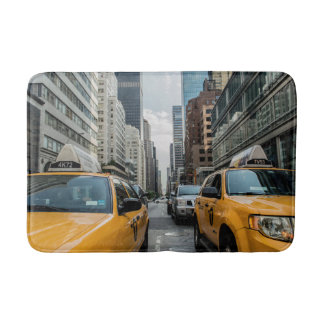 New York Yellow Taxi Cabs Bath Mat