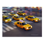 New York Yellow Taxi's Postcard