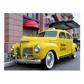 New York Yellow Vintage Cab Postcard