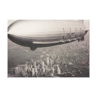 New York Zeppelin Canvas Print