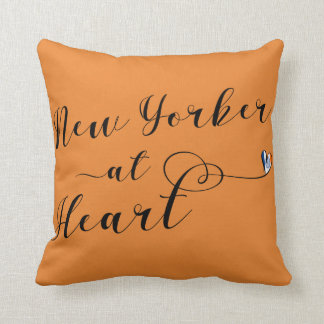 New Yorker At Heart Throw Cushion, NYC Cushion