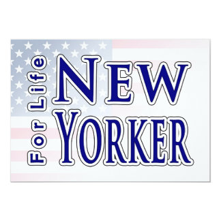 New Yorker For Life Personalized Announcements