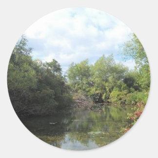 New York's Amazon Round Stickers