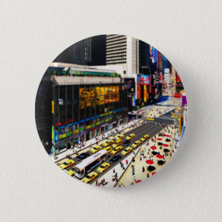 New York's Times Square in miniature 6 Cm Round Badge