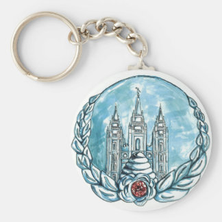 new young womens medallion key-chain key ring