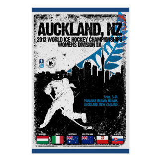 New Zealand 2013 IIHF Women World Champs Poster