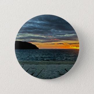 New Zealand Abel Tasman Sunset 6 Cm Round Badge