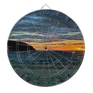 New Zealand Abel Tasman Sunset Dartboard
